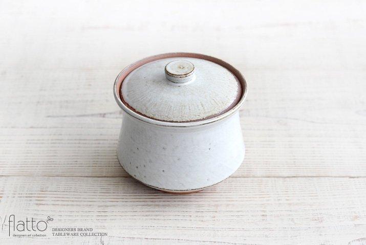 水野幸一|耐熱 白釉オジャ鍋(大)