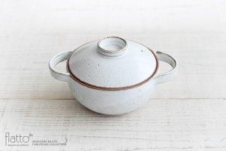 水野幸一|耐熱 白釉小鍋