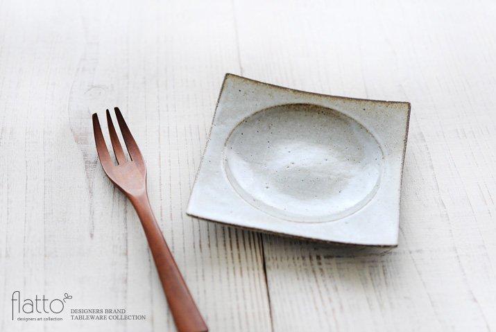 水野幸一|耐熱 白釉角皿(小)-02