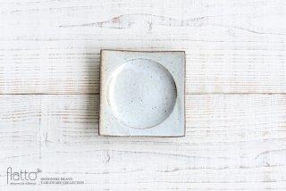 水野幸一|耐熱 白釉角皿(小)
