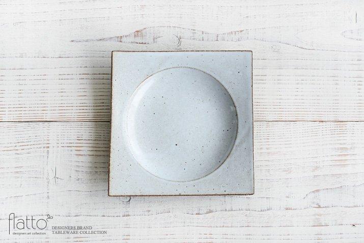 水野幸一|耐熱 白釉角皿(中)