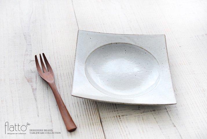 水野幸一|耐熱 白釉角皿(中)-02