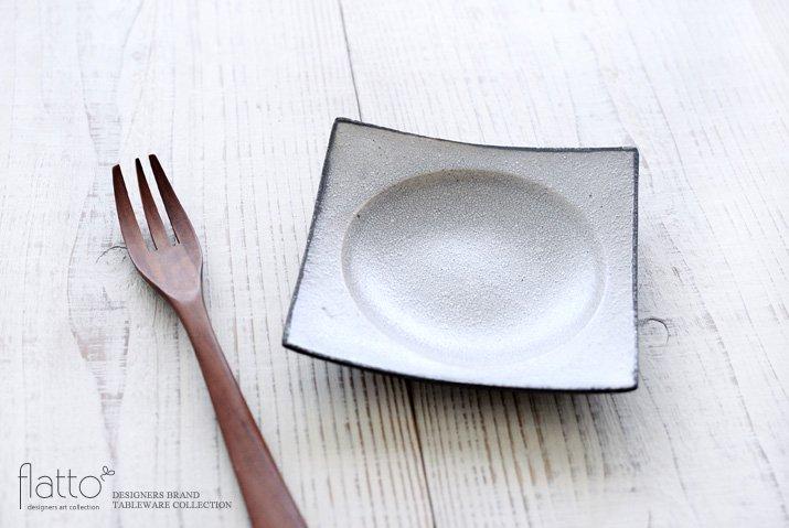 墨貫入 角皿(小)|水野幸一|豆皿・小皿|角皿-02