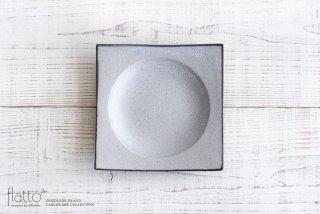墨貫入 角皿(中)|水野幸一|中皿|角皿
