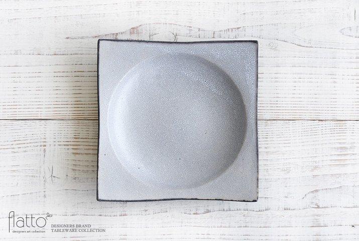 墨貫入 角皿(大)|水野幸一|中皿|角皿