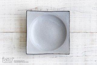 水野幸一|墨貫入 角皿(大)