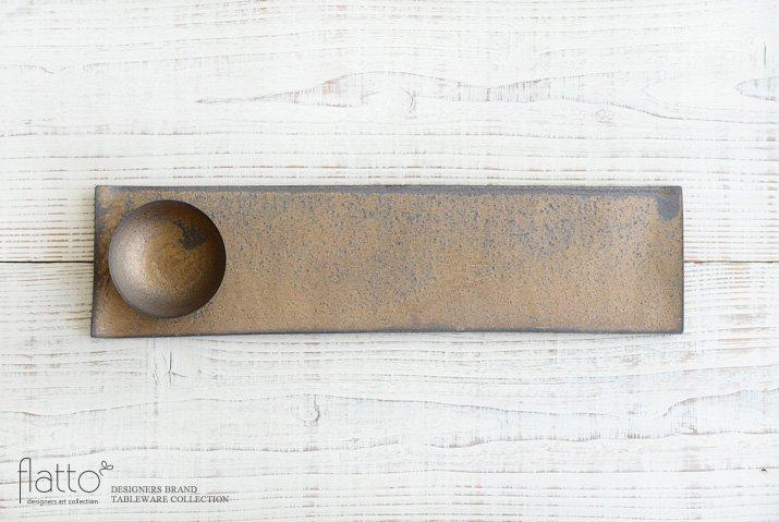 水野幸一|銅彩釉 THE秋刀魚皿(小皿付き)