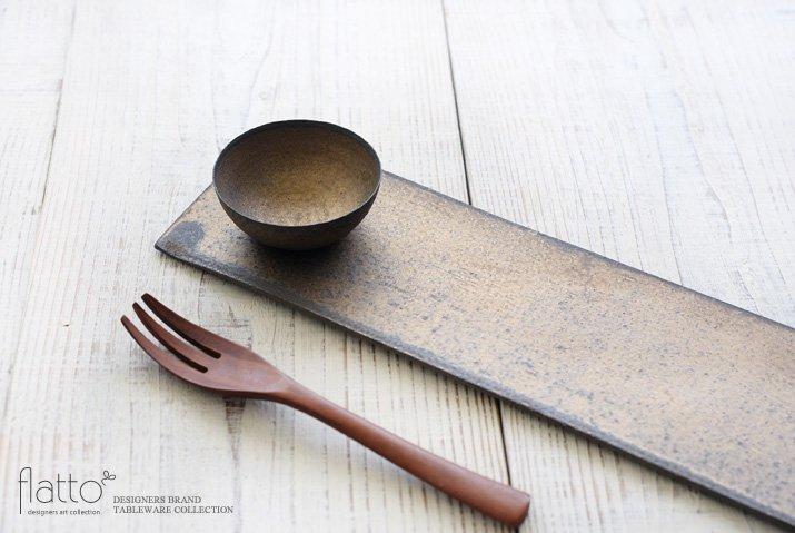 水野幸一|銅彩釉 THE秋刀魚皿(小皿付き)-02