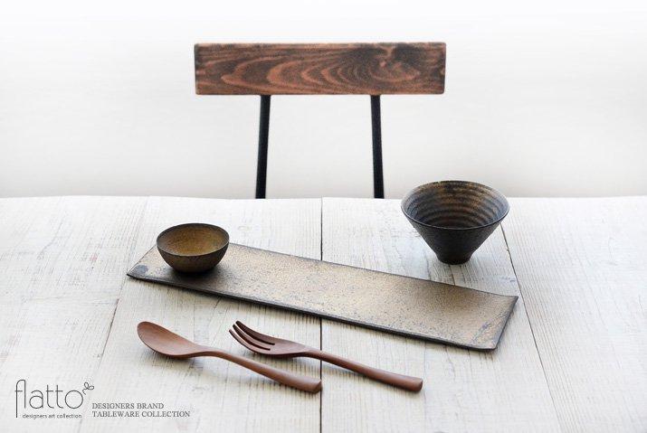 水野幸一|銅彩釉 THE秋刀魚皿(小皿付き)-03