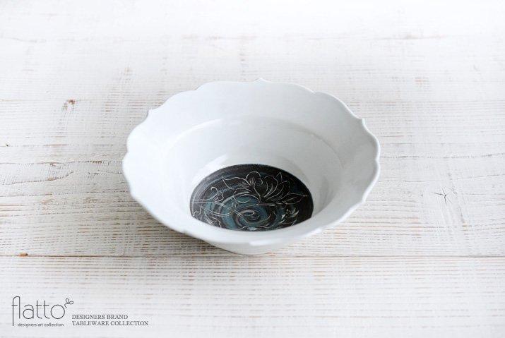 松本郁美|6.5寸輪花鉢(牡丹)