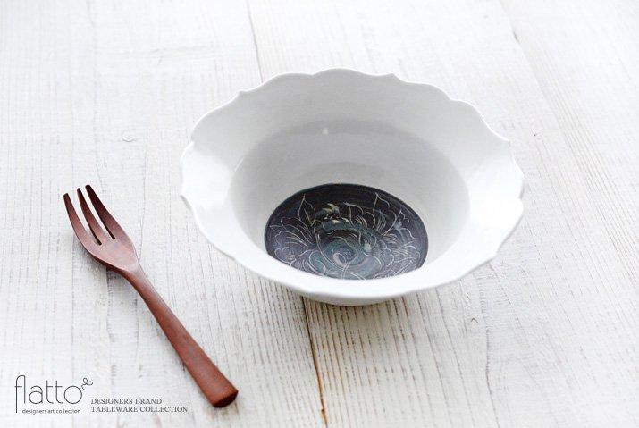 松本郁美|6.5寸輪花鉢(牡丹)-02