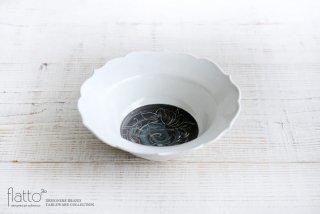 6.5寸輪花鉢(牡丹) 作家「松本郁美」
