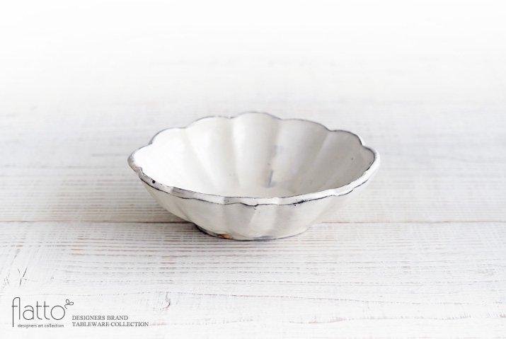 加藤祥孝|粉引 6寸楕円輪花深鉢