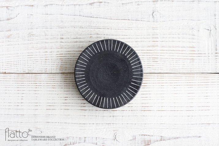 黒十草リバーシブル皿ミニ|奥田章|豆皿・小皿