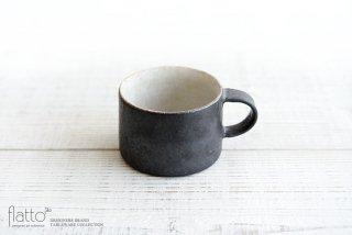加藤裕章|黒錆釉掛分けマグカップ