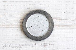 灰釉雲母リムプレート6寸|加藤裕章|中皿