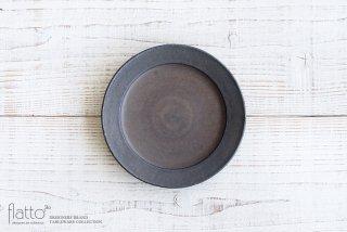 黒錆釉リムプレート6寸 和食器作家「加藤裕章」