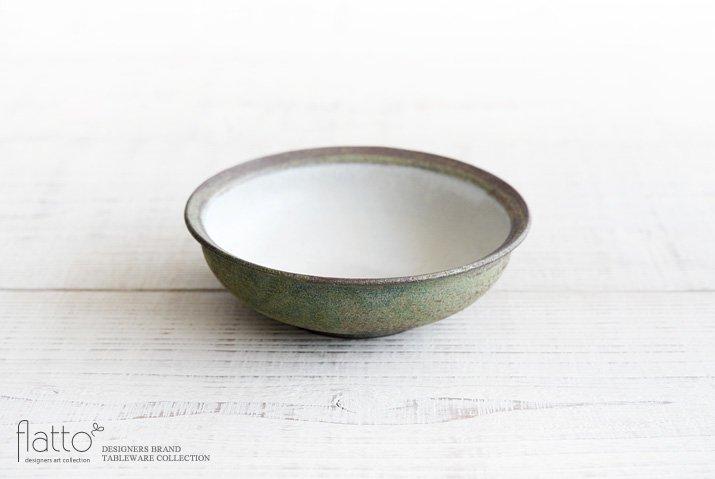 福井亜紀|17cm丸鉢(緑砂)