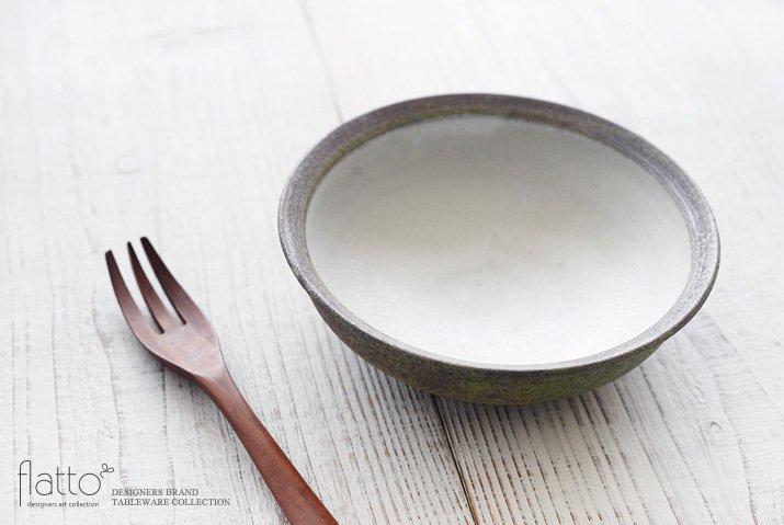 福井亜紀|17cm丸鉢(緑砂)-02