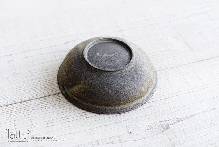福井亜紀|17cm丸鉢(緑砂)-04