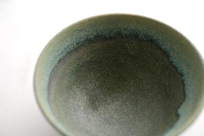 しのぎ飯碗(緑砂)|福井亜紀|飯碗-02
