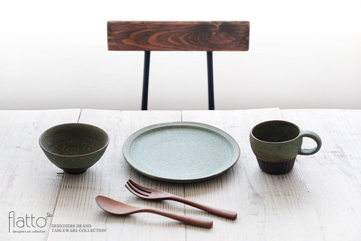 しのぎ飯碗(緑砂)|福井亜紀|飯碗-03