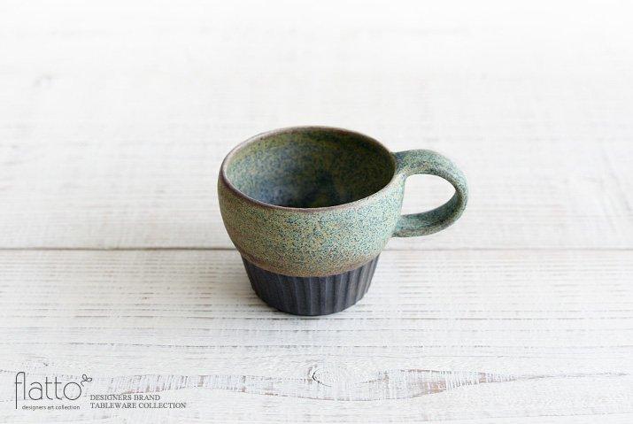 福井亜紀|コーヒーカップしのぎ(緑砂)