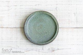 福井亜紀|18cm丸皿(緑砂)