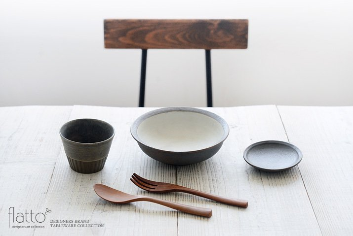 福井亜紀|17cm丸鉢(灰砂)-03