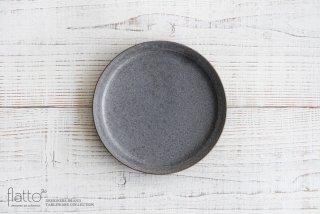福井亜紀|18cm丸皿(灰砂)