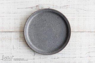 21cm丸皿(灰砂)|福井亜紀|中皿