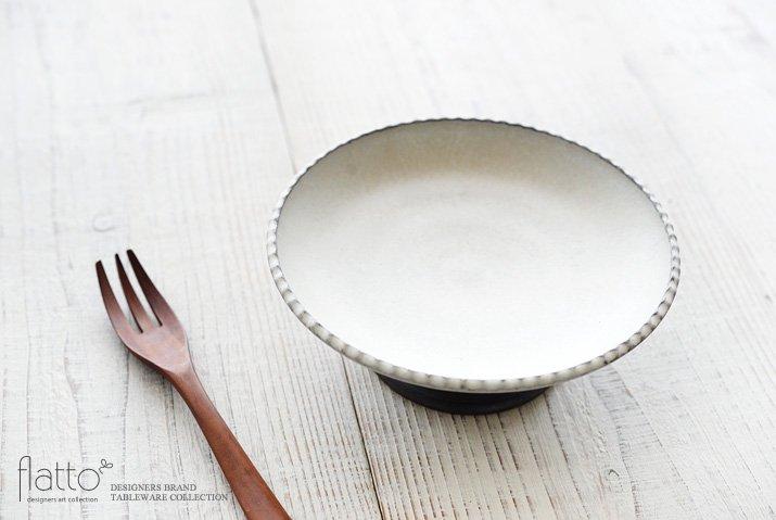 しのぎコンポート皿18cm(白) 作家「福井亜紀」-02