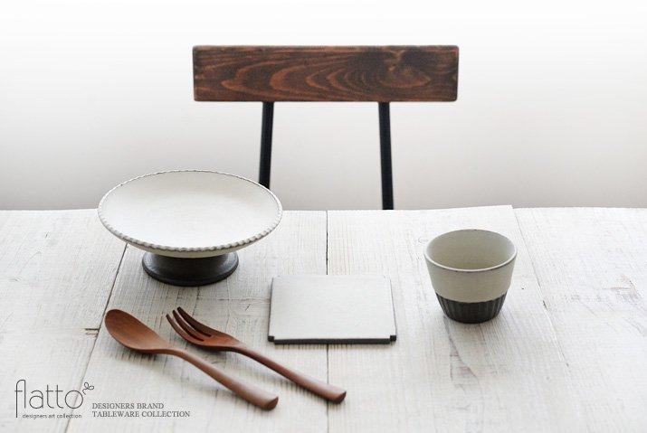 しのぎコンポート皿18cm(白) 作家「福井亜紀」-03