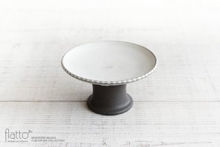 福井亜紀|しのぎコンポート皿14.5cm(白)