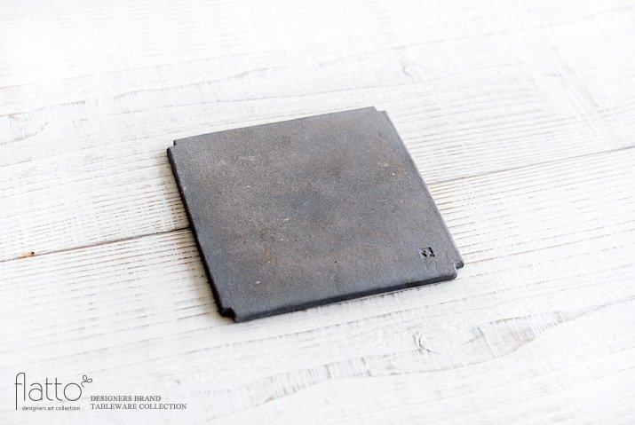 福井亜紀|角切板皿14cm(白)-04
