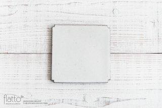 福井亜紀|角切板皿14cm(白)