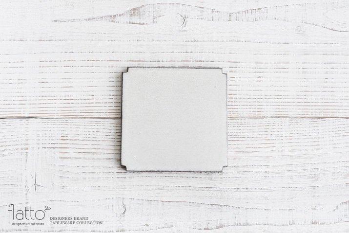角切板皿11.5cm(白) 作家「福井亜紀」