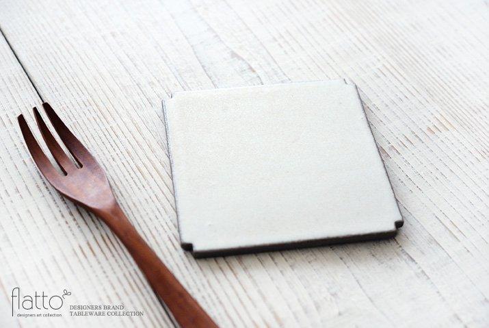 角切板皿11.5cm(白) 作家「福井亜紀」-02