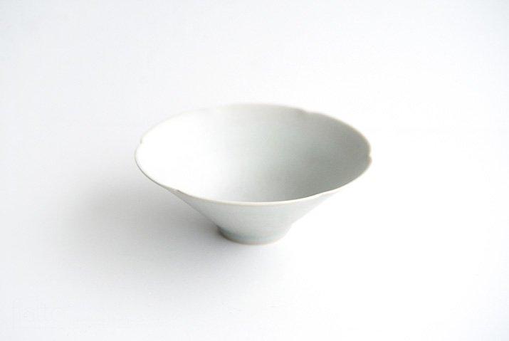 杉原万理江|輪花小鉢A(白)