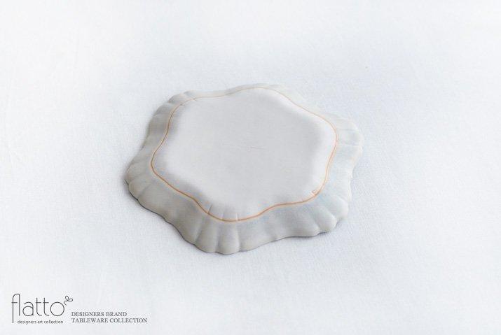 杉原万理江|KATACHI小皿 ロッカク(白)-04