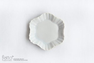 杉原万理江|KATACHI小皿 ロッカク(白)|中皿
