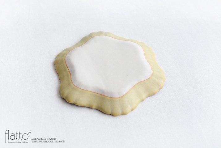 杉原万理江 KATACHI小皿 ロッカク(黄緑)-04