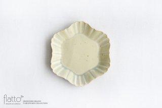 杉原万理江|KATACHI小皿 ロッカク(黄緑)|中皿