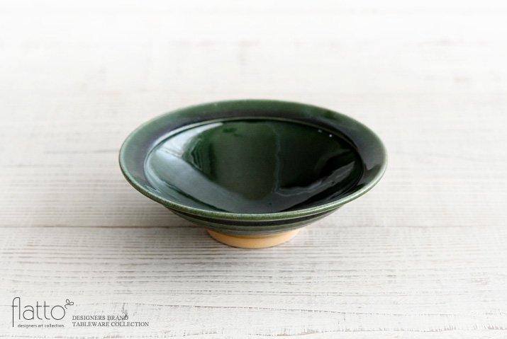市野耕|織部 6寸リム鉢