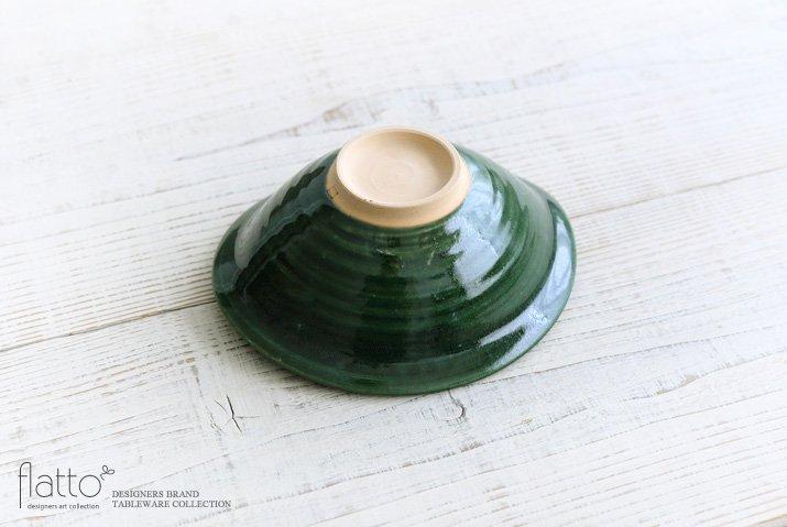市野耕|織部 6寸楕円鉢-04