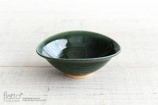市野耕|織部 6寸楕円鉢
