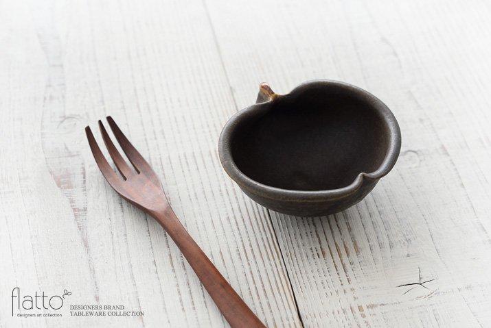 古谷浩一|錆釉 りんご鉢ミニ-02