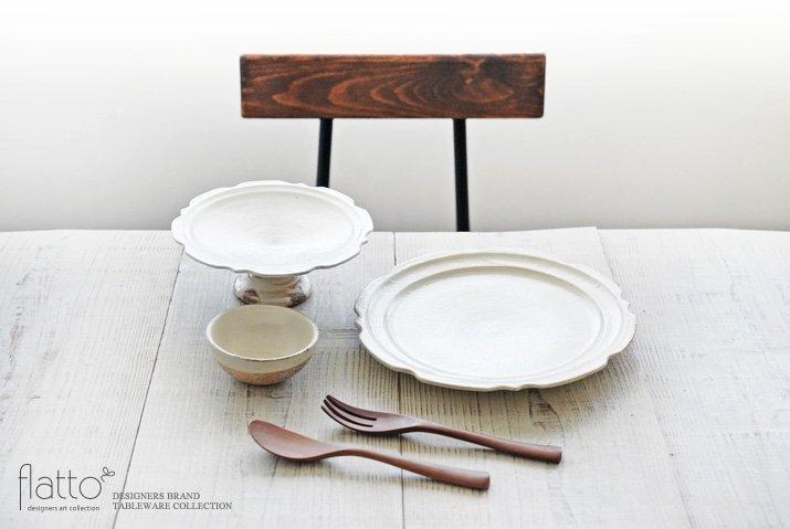 古谷浩一|鉄散 彫刻コンポート皿18cm-03