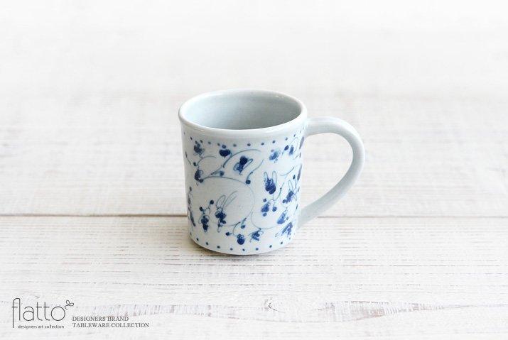 石井桃子|花唐草マグカップ(角・ドット)