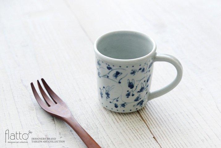 石井桃子|花唐草マグカップ(角・ドット)-02